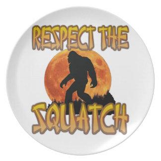 Prato De Festa Respeite o Squatch