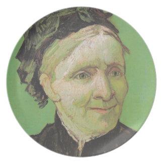 Prato De Festa Retrato de Vincent van Gogh da arte da mãe do