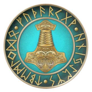Prato De Festa Runes - martelo dos Thors - cerceta