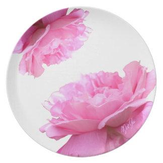 Prato De Festa Ruptura de jantar floral glamoroso da placa |