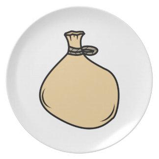 Prato De Festa Saco medieval do saco de Brown