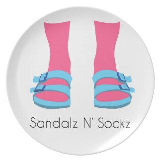 Prato De Festa Sandalz azul/cor-de-rosa N Sockz
