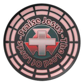 Prato De Festa Senhor senhor Melamina Placa de Jesus do elogio