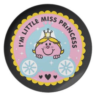 Prato De Festa Senhorita pequena princesa | eu sou uma princesa