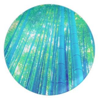 Prato De Festa Série de bambu da floresta