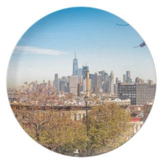 Prato De Festa Skyline da Nova Iorque