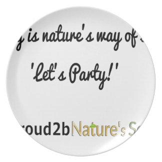 Prato De Festa Slogan 1 dos soldados da natureza