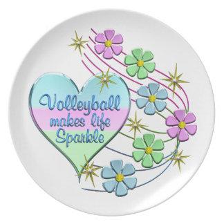 Prato De Festa Sparkles do voleibol