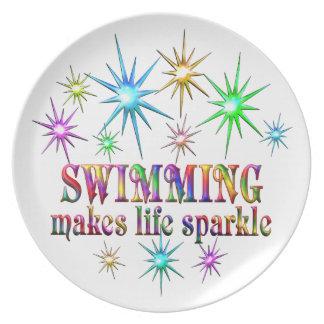 Prato De Festa Sparkles nadadores