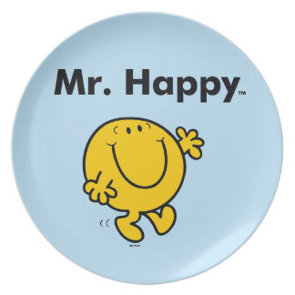 Prato De Festa Sr. Feliz Ser Sempre Feliz do Sr. Homem |