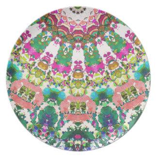 Prato De Festa Sun abstrato irradia o mosaico