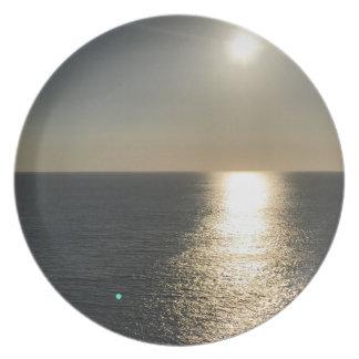 Prato De Festa Sun na água