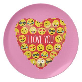 Prato De Festa Surpreendendo eu te amo o presente de Emoji