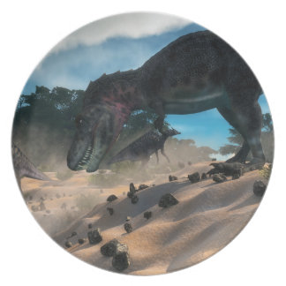 Prato De Festa Tarbosaurusnext à floresta liban do cedro