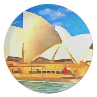 Prato De Festa Teatro da ópera bonito de Sydney