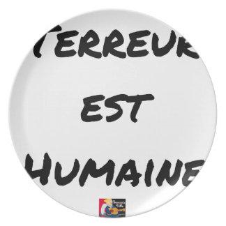 Prato De Festa TERROR LESTE HUMANO - Jogos de palavras François
