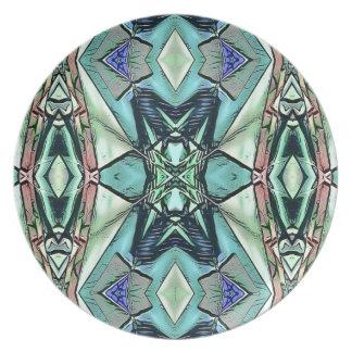 Prato De Festa Teste padrão artístico do pêssego moderno do Lilac