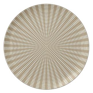 Prato De Festa Teste padrão de tecelagem circular radial - Khaki