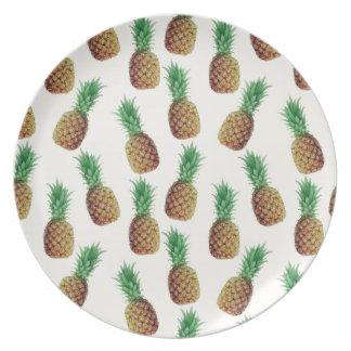 Prato De Festa Teste padrão do papel de parede do abacaxi