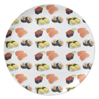 Prato De Festa Teste padrão do sushi