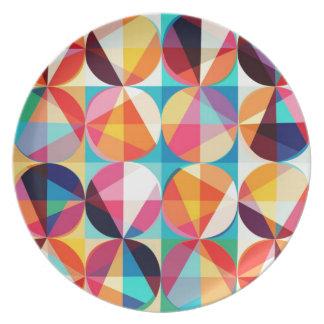 Prato De Festa Teste padrão geométrico de Kaledioscope do círculo
