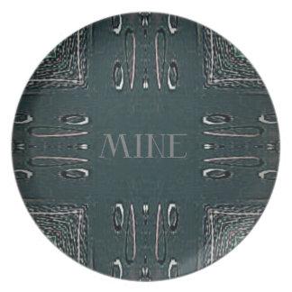 Prato De Festa Teste padrão gótico da mina das cinzas pretas