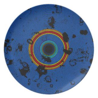 Prato De Festa Teste padrão multicolorido da textura do disco do