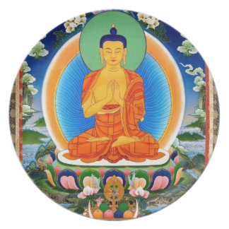Prato De Festa Tibetano Thangka Prabhutaratna Buddha