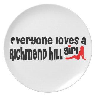 Prato De Festa Todos ama uma menina de Richmond