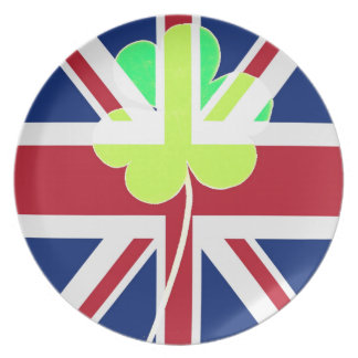 Prato De Festa Trevo britânico irlandês St Patrick Reino Unido do