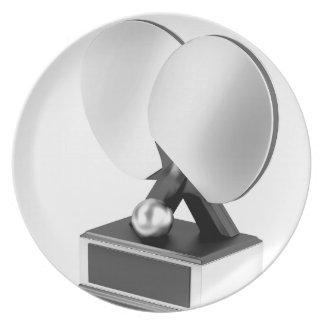 Prato De Festa Troféu de prata do ténis de mesa
