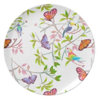 Prato De Festa Tropical Butterfly