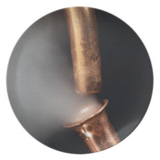 Prato De Festa Tubulações de cobre com vapor