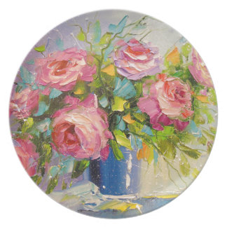 Prato De Festa Um buquê dos rosas