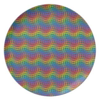 Prato De Festa Uma placa instável do arco-íris