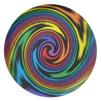 Prato De Festa Uma turbulência colorida