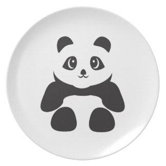 Prato De Festa Urso de panda bonito