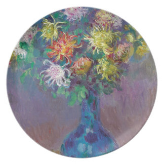 Prato De Festa Vaso dos crisântemos Claude Monet