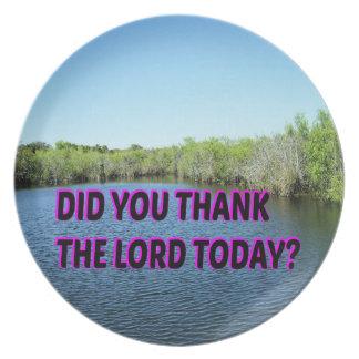 Prato De Festa Você agradeceu ao senhor Hoje?