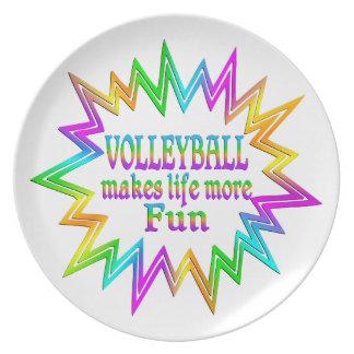 Prato De Festa Voleibol mais divertimento