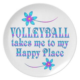 Prato De Festa Voleibol meu lugar feliz