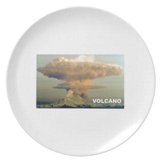 Prato De Festa Vulcão distante