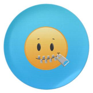 Prato De Festa Zipper Emoji