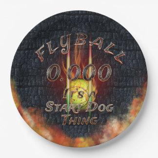 Prato De Papel 0,000 Flyball Flamz: É uma coisa do cão do começo!