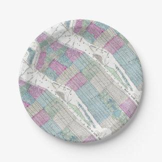 Prato De Papel 1870 Central Park da Nova Iorque do mapa
