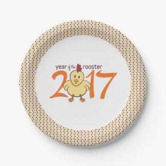 Prato De Papel 2017 anos do galo