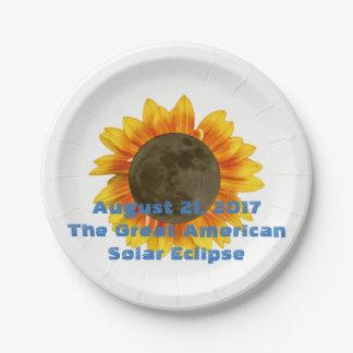 Prato De Papel 2017 eclipse solar, edição do girassol
