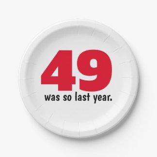 Prato De Papel 49 eram tão no ano passado