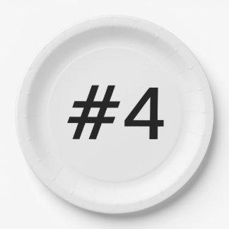 Prato De Papel #4 escala - placa de papel