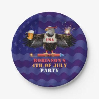 Prato De Papel 4o da cerveja e de fogos-de-artifício patrióticos